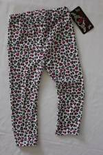 NEW Toddler Girls Leggings 2T White Pink Gray Leopard Stretch Pants Cute