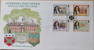 """Guernsey Stamps: """"Sir Edmund Andros 350th Anniversary"""" - First Day Cover 1987"""