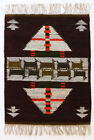 PATH / GREEN / BROWN Vintage Modernist Polish Textile Wall Hanging / Rug