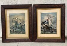 """New listing """"The Fight For The Standard"""" Pair Of Antique British Prints"""