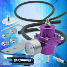 Purple Adjustable Fuel Pressure Regulator Fpr 0-140 Psi For Mazda Miata Rx7 Rx8