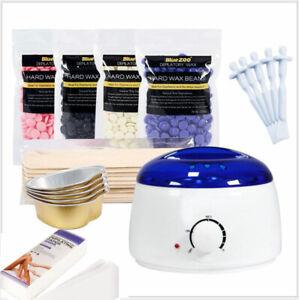 Hot Wax Machine Set Wax Beans Heater Warmer Kit Painless Hair Removal Depilatory