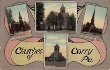 Postcard Churches of Corry Pa