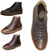Mens Florsheim Boot Crew HIGH TOP Plain Toe Lace Up Leather Shoes Sneakers NEW