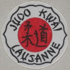 "Judo Kwai Lausanne Patch - Switzerland - 3 1/2"" x 3 1/2"""