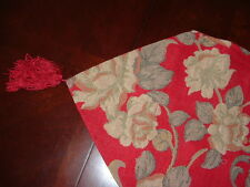 "Beautiful  Red Table Runner with Roses  34X13""  Nice!"