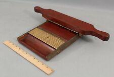 Antique 19thC Apothecary Pharmacy Mahogany Mahogany Board w/ Changeable Plates