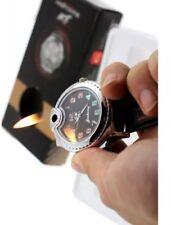 Mens Watches Butane Big Cigarette Cigar Lighter Refillable Black Wrist Watch (R)
