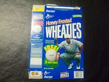 Tiger Woods Free 3 golf balls  Honey Frosted  wheaties box   14.75 oz