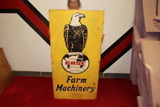 "Large Case Eagle Farm Machinery Tractor Feed & Seed Gas Oil 48"" Metal Sign"