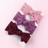 Baby  Headband Cotton Elastic Bowknot Hair Band Girls Bow-knot Newborn bara