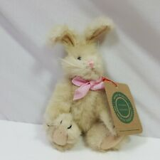 Boyds Bears Plush Rabbit Small White Jointed Nwt Collectible Easter Toy 7in Long