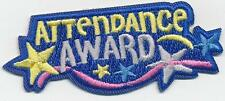 Girl Boy Cub ATTENDANCE AWARD Fun Patches Crests Badges SCOUTS GUIDE good great