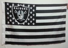OAKLAND RAIDERS USA HUGE FLAG BANNER 3' X 5' Stars & Stripes 3x5 American