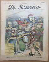Le Sourire N° 1 du 28 Octobre 1899 - Illustrateur CADEL & Wilhio