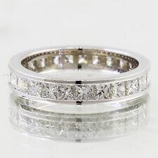 Eternidad Corte Princesa 5 Kilates 18CT Anillo Diamante Oro Diámetro