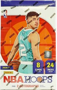 2020-21 Panini NBA Hoops Basketball Factory Sealed Hobby Box