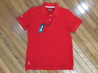 NWT Ping Women's Red Golf Polo Shirt Top Blouse Size M MSRP $36 New