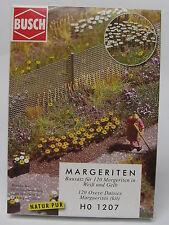 Busch 1207 marguerites, Kit de montage pour 120 plantes en blanc et jaune, H0