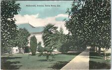 SANTA ROSA, CA California  Street Scene on McDONALD AVENUE  1909    Postcard