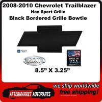 02-09 CHEVY Trailblazer BowTie Emblem Border NO border BLACK POLISHED OR CHROME