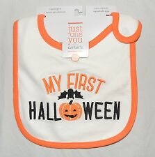 New Unisex Baby Carter's My First Halloween Bib Bat Pumpkin Jack O Lantern