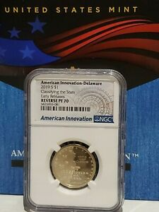 2019 S $1 NGC Reverse PF70 Delaware Classifying the Stars American Innovation