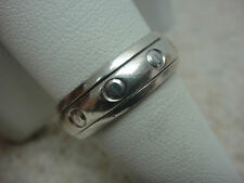 925 STERLING SILVER SPINNER BAND RING W/ CIRCLE DESIGN