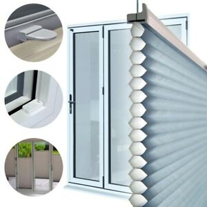 UK Blinds Frameless Perfectly Fitted Pleated Honeycomb Blinds Bi-Fold/Patio Door