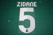 Flocage ZIDANE pour maillot foncé du REAL MADRID  patch football shirt *