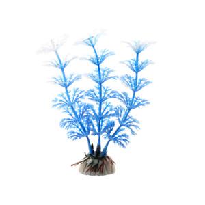 12 cm PVC Aquarium Blue White Plant Flower Water Fish Tank Aqua Decoration