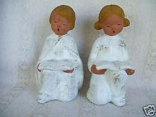 Rare Lot 2 Beck Giftware Singing Praying Kneeling Angels Figurine Made In Spain