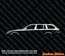 2x silhouette stickers aufkleber -for BMW E61 5er Touring kombi 520d 525i 535d