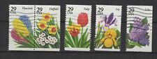 U.S.A États-Unis d'Amérique 1993 fleurs des jardins 5 timbres oblitérés/T2298