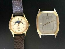 Vintage Seiko Men's Watch and  Moon Phase Ladies Watch