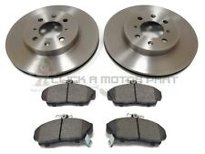 for HONDA CIVIC 1.6 VTEC 2002-2005 FRONT 2 BRAKE DISCS AND PADS 4 STUD ONLY