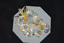Mib! Swarovski Crystal 15 Grape Cluster Bunch Art 7550 Nr 20015 With Box & Coa