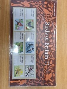 presentation pk six 6 Post and Go birds of britain 11 royal mail mint stamps J11