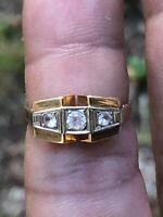 bague tank18 carat taille 57  old ring gold