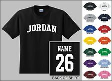 Country Of Jordan College Letter Custom Name & Number Personalized T-shirt