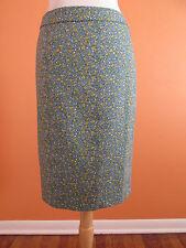 Talbots Size 8 Blue Print Canvas Cotton Pencil Skirt