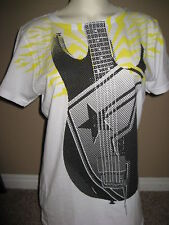 New with tags Girls FAMOUS STARS & STRAPS T-Shirt Junior size Large GUITAR White