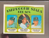 1972 Topps Carlton Fisk/Cecil Cooper/Mike Garman Rookie Card #79