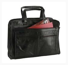 Black Genuine Leather Business Briefcase School Laptop Shoulder Messenger Bag