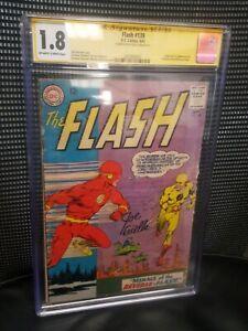 The Flash 139 CGC 1.8 Signed SS Joe Giella. First Professor Zoom