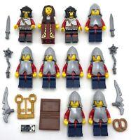 LEGO 10 NEW CASTLE MINIFIGURES SCALEMEN KNIGHTS W/ ARMOR KINGDOMS FIGS WEAPONS