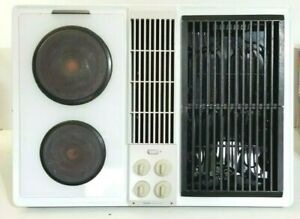 Jenn-Air C236W Cooktop Downdraft Electric White with Grill - Tested/Works
