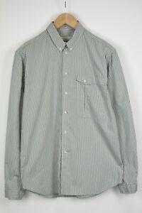 AQUASCUTUM Men's (UK) 41 or ~LARGE Chalk Stripe Green Shirt 34400_GS