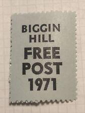 GB Postal Strike Stamps 1971 - Biggin Hill Free Post 1971