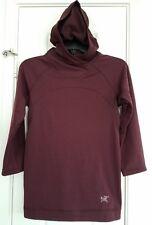 Arc'teryx Thaleia Polartec Power Dry Fleece Hoodie Womens Small Bordeaux Red